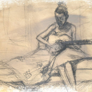 SKETCH-A SONG FOR MY SISTER 11x15