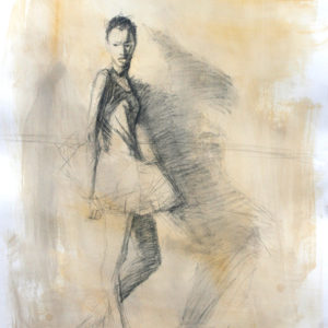 SKETCH-BALLERINA & SHADOW 22.75x30