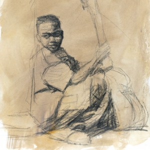 SKETCH-Boy WITH GUITAR 9x12